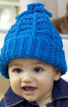 Free Crochet Baby to Kid Hat Pattern.