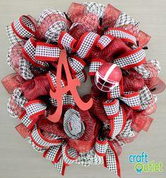 Alabama Houndstooth Wreath Tutorial