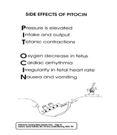 side effects of pitocin.