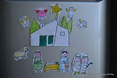 Magnetic Nativity Story - Magnetisch Kerstverhaal | AngeliqueFelix.com #kerst #christmas #nativity