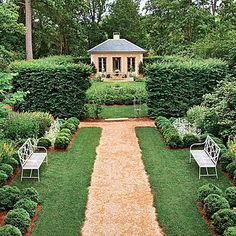 Classical Virginia Garden | A proper upbringing is one way to describe garden design tradition in Virginia. Its symmetrically planned allées and vista views have a pedigree back to the ancients. Who can argue with several millennia of success or Jefferson's own lasting local touch? | SouthernLiving.com