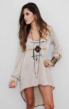In love diy boho clothes, high low dresses, bohemian fashion, style, tunic dress, outfit, the dress, boho diy clothes, longsleev tunic