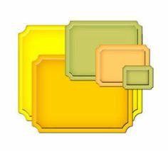 Spellbinders Small Labels Die Template S4-169