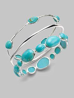 Ippolita - Turquoise Cabochon & Sterling Silver Bracelet