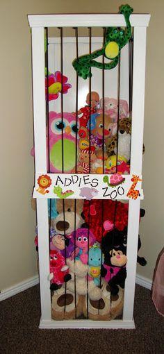 anim storag, storage solutions, the zoo, stuf anim, stuff animals, playroom, kid rooms, hous, stuffed animal storage