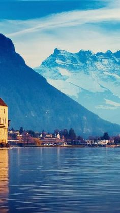 Lake Geneva, Switzerland.  Go to www.YourTravelVideos.com or just click on photo for home videos and much more on sites like this.