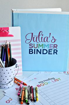 Printable Summer Binder- create a binder full of fun for your kids this summer!