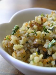 bulgar salad with pecans, orange, and mint -- definitely would use quinoa.