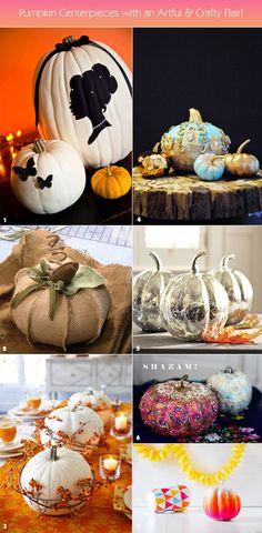 Unique pumpkin centerpieces for Halloween