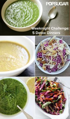 Try Our Challenge: 5 Detox Dinners #supper #recipe #easy #recipes