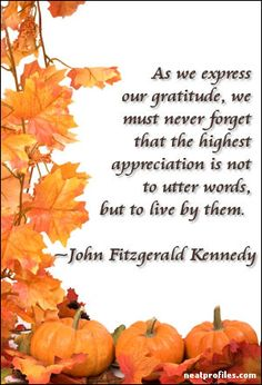 John F Kennedy Thanksgiving Quote