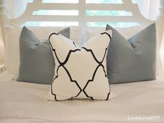 LiveLoveDIY: DIY Stencil Sharpie Pillow