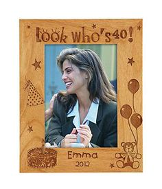 Look Who's 40! Birthday Frame Vertical Orientation 5x7. #40th #birthday #present #gifts