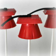 Red Graduation Caps Cake Pops