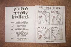 awesome wedding invite.