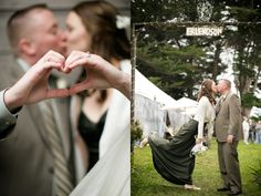 What a unique pair of photos from AE Pictures Inc. #wedding #kiss #love