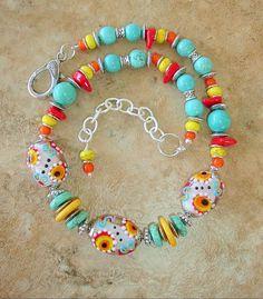 Boho Necklace Turquoise Jewelry Bohemian Necklace by BohoStyleMe