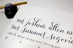 names and address, script and san serif
