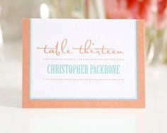 Contemporary Place Cards or Escort Cards for by shineinvitations
