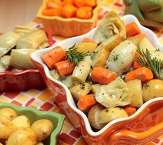 Cara Mia: Braised Artichokes with Potatoes and Carrots