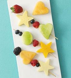 healthy snacks, fruit kabobs, food, healthy kids, fruit snacks, skewer, cookie cutters, healthy kid snacks, preschool snack