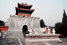 Memorial tower of the tomb of Empress Dowager Cixi 慈禧太后.