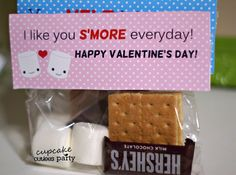 Cupcake Cutiees: S'more Love Valentine DIY card- PARTY STORE