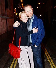 Amanda Abbington and Mark Gatiss. Too, too cute! now we have to see ian and martin!