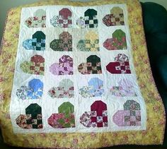 quilt group that uses Jakes Heart block for donation quilts. Lots of layouts and colors... colors chosen by person piecing the top, and made by the group