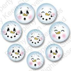 Snowman Faces on Pinterest | Primitive Snowmen, Painted Snowman and W ...