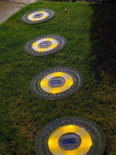 solar stepping stones.