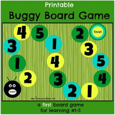 Free printable game to teach preschoolers to recognize the numbers 1-5