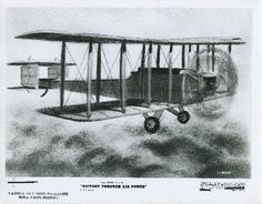 Photo of a drawing taken from Disney's Victory through Air Power showing the progression of building advanced airplanes.