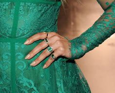 Jennifer Lopez wore her nails long and nude to the 2014 Teen Choice Awards.