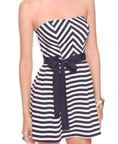 seashore stripes dress- foreves