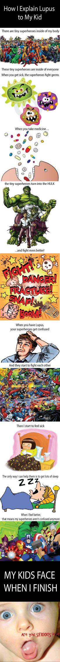 #lupus awareness... explaining lupus to a kid
