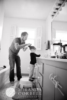 daddy doing hair