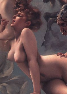 "Luis Ricardo Falero, Detail of ""Departure of the Witches"""