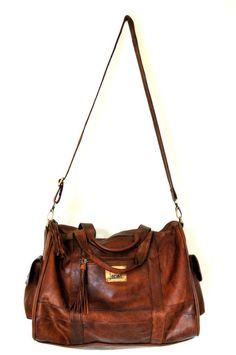 ELF - Duffel bag. Carry on luggage bag handmade from high quality leather.