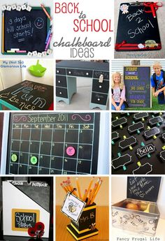 10 chalkboard crafts to help get ready for back to school | curated at thecelebrationshoppe.com