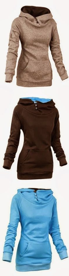 Comfy Long Sleeve Women's Hoodie (I love these hoodies for fall on the go where)