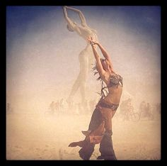 Stacy Keibler in an instagram photo at The Burning Man festival. Speechless