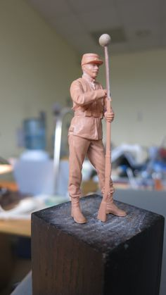 The model of french soldier 1914 year is ready for molding