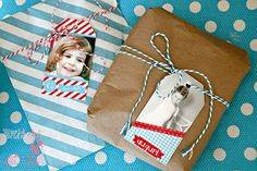 Vintage Photo Tag Christmas Personalized CARD  by worldwideparty, $11.00