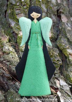 Angel felt  Angel de fieltro