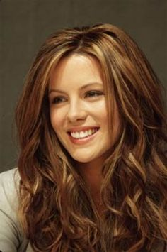 Kate Beckinsale. Hair color, highlights, lowlights