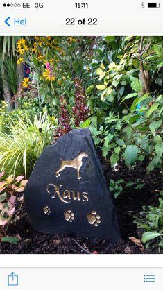 Beautiful pet memorial http://www.rusticstone.net/pet-memorial/dog-memorials/