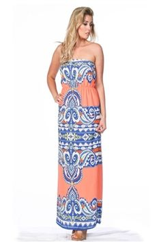 Tickle Me Pink maxi  www.pinkslateboutique.com