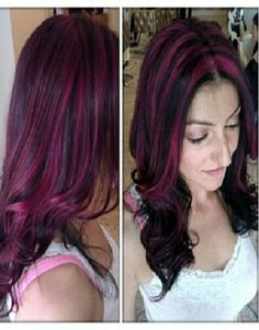 Pink And Black Hair Highlights Images & Pictures - Becuo