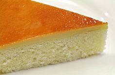 Leche flan with chiffon cake